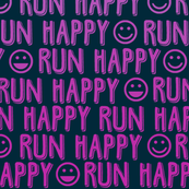 run happy faces pink on navy