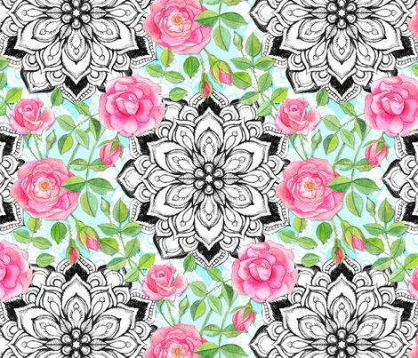 Rrpink_watercolor_roses_mandala_base_blue_lace_repositioned_shop_preview