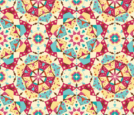Eat Pray Love Mandala fabric by lauraflorencedesign on Spoonflower - custom fabric