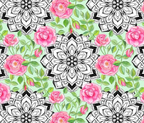 Rpink_watercolor_roses_mandala_base_mint_repositioned_shop_preview