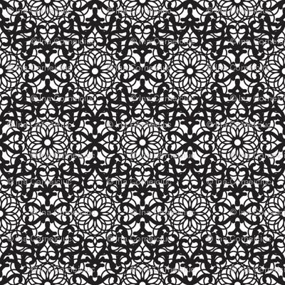 Mandala black lace pattern