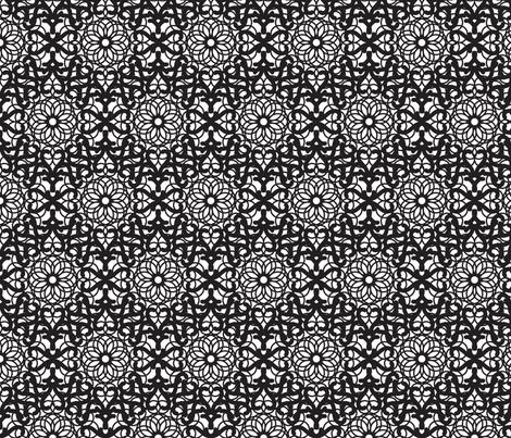 Mandala black lace pattern fabric by yopixart on Spoonflower - custom fabric