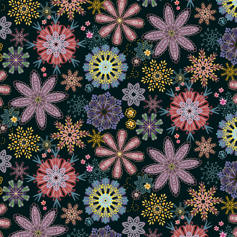 Floral Mandalas fabric by rachelmacdonald on Spoonflower - custom fabric
