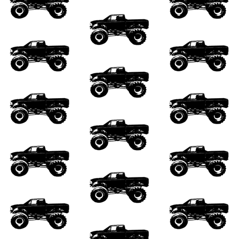 Monster Trucks fabric by thinlinetextiles on Spoonflower - custom fabric