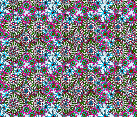 Springtime in Mandala fabric by oceangirlcreativeco on Spoonflower - custom fabric