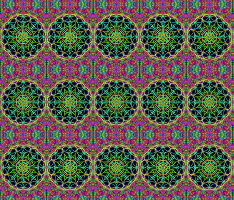 Cosmic Wheels on a Celestial Carpet. fabric by rhondadesigns on Spoonflower - custom fabric