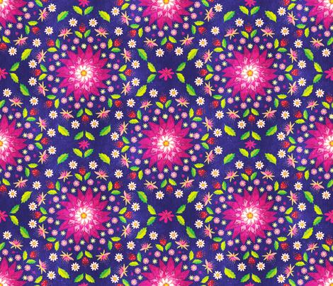 Flower Mandala fabric by pinky_wittingslow on Spoonflower - custom fabric