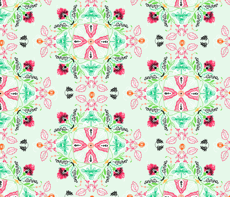 SPRING_Mandala-01 fabric by amandahoodart on Spoonflower - custom fabric
