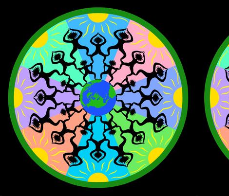 Side by side Mandala fabric by dafr on Spoonflower - custom fabric