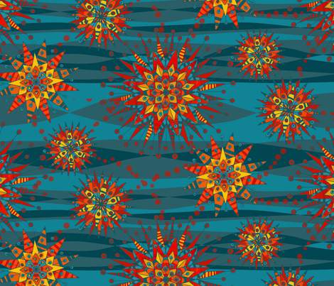 Mandala in the sky fabric by alessandradesantis on Spoonflower - custom fabric