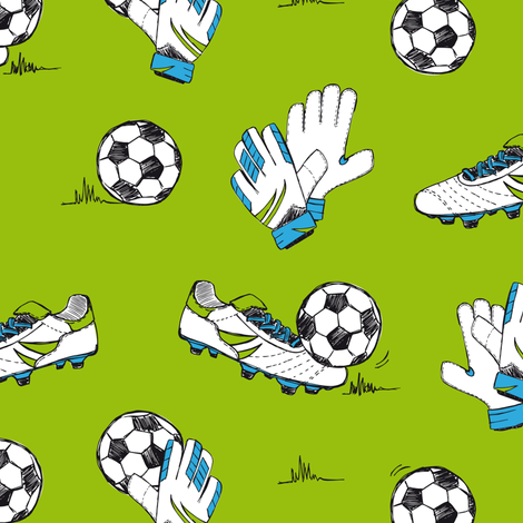 Let's play soccer fabric by revista on Spoonflower - custom fabric