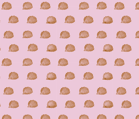 hedgehog fabric by hepphabit on Spoonflower - custom fabric