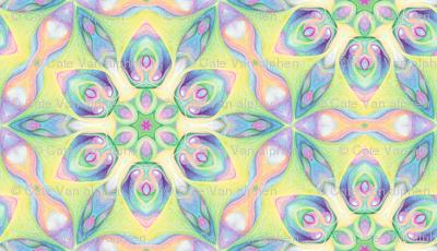 Six petalled flower hexagon