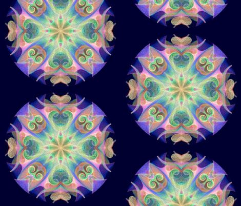 Luminous Mandala fabric by fulgorine on Spoonflower - custom fabric