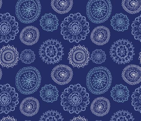 Blue Mandalas fabric by kellie_jayne_ on Spoonflower - custom fabric