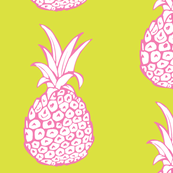 Pineapple Party -  Pink // DBE140 Green