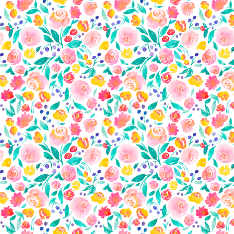 indy bloom design Flora Jane A fabric by indybloomdesign on Spoonflower - custom fabric