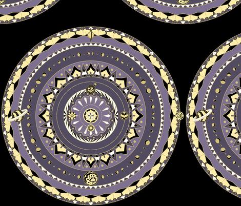 Solar System Mandala fabric by pond_ripple on Spoonflower - custom fabric