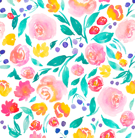 Indy bloom design Flora Jane B fabric by indybloomdesign on Spoonflower - custom fabric