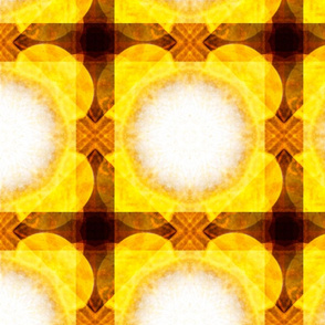 White spheres