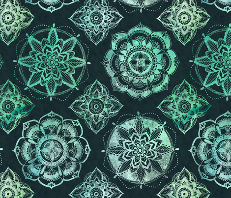 GreenMandala fabric by brittany_vogt on Spoonflower - custom fabric