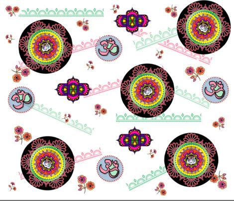 mandala_tiger fabric by quizzicalkittydesigns on Spoonflower - custom fabric