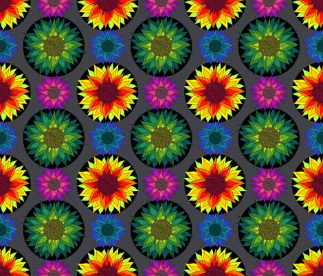 Sunflower Mandalas fabric by irishvikingdesigns on Spoonflower - custom fabric