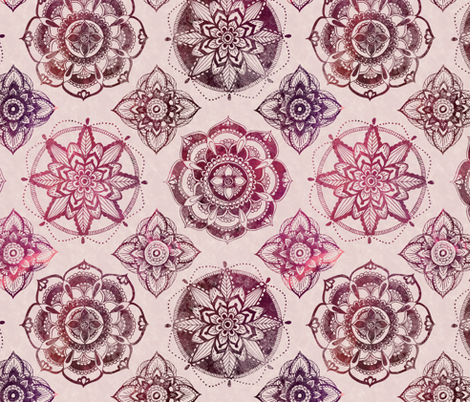 Rose Mandalas fabric by brittany_vogt on Spoonflower - custom fabric