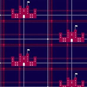 Scottish castle - Blue