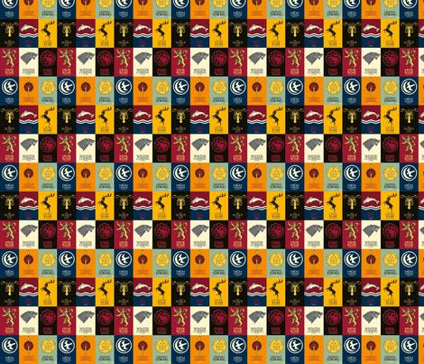 GoT House Sigils fabric by nerdfabrics on Spoonflower - custom fabric