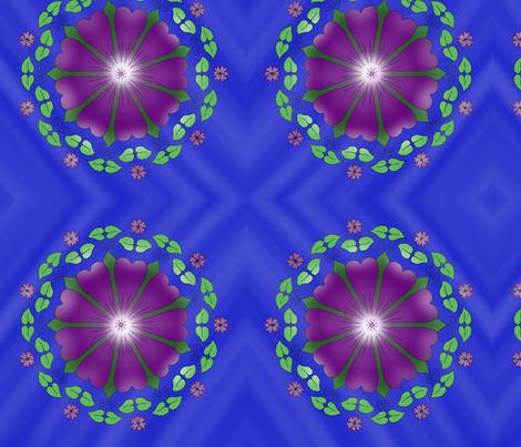 Flower Mandala fabric by huggablehamster on Spoonflower - custom fabric