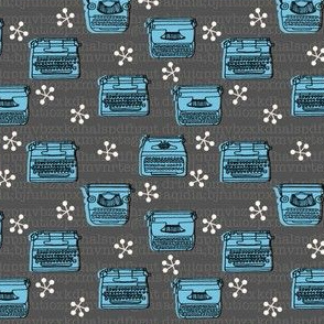 typewriter fabric // vintage retro fabrics
