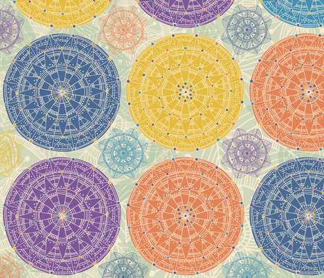 Layered Mandalas fabric by gracedesign on Spoonflower - custom fabric