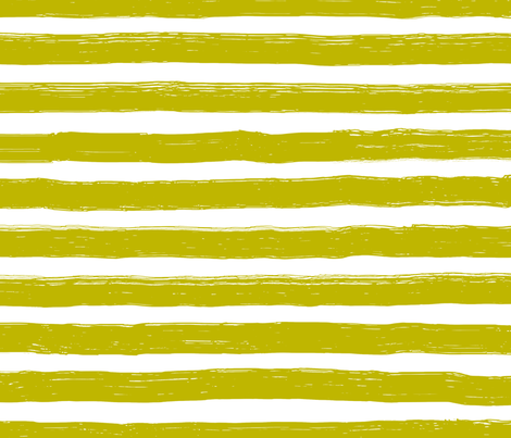 Bristle Stripes - Pear on White fabric by guerrillathreads on Spoonflower - custom fabric