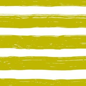 Bristle Stripes - Pear on White