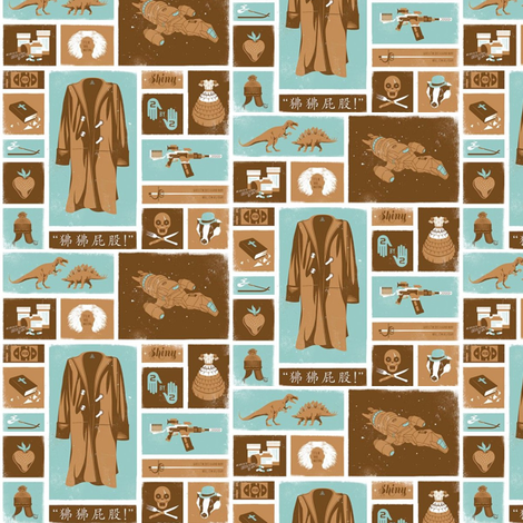 Firefly Icons fabric by nerdfabrics on Spoonflower - custom fabric