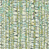 Birch Trees Green