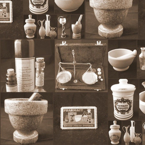 Pharmacy Mosaic Sepia