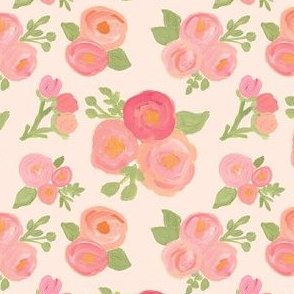 Simple Sweet Pink and Peach Florals