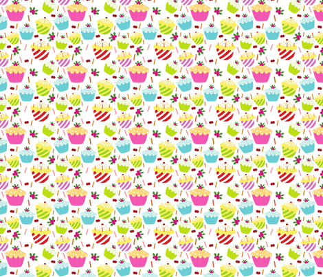 Cupcake Birthday fabric by puggy_bubbles on Spoonflower - custom fabric