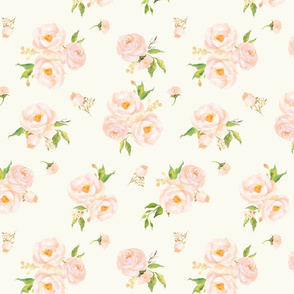 Peaches and Cream Floral // Half Scale