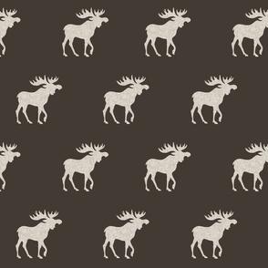 Big Moose - tan Linen on brown