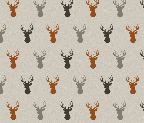 Deer - Redstone Canyon fabric by sugarpinedesign on Spoonflower - custom fabric