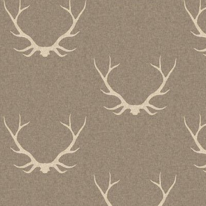 Antlers- Light Brown Linen/taupe