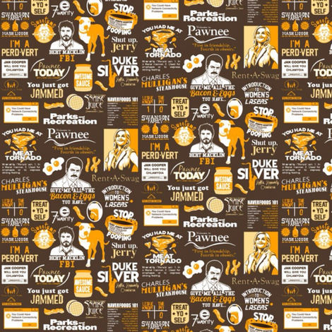 Parks & Rec. Quotes fabric by nerdfabrics on Spoonflower - custom fabric