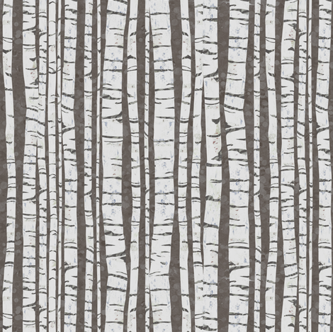 Birch Trees (small size) fabric by sarah_treu on Spoonflower - custom fabric