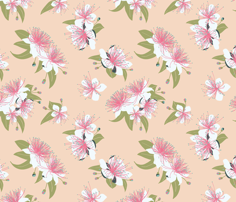 Sweet Pink Myrthe fabric by ellila on Spoonflower - custom fabric