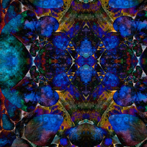 Dark blue stones
