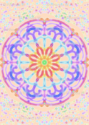 Cosmic Dream Circles on Apple Blossom Pink