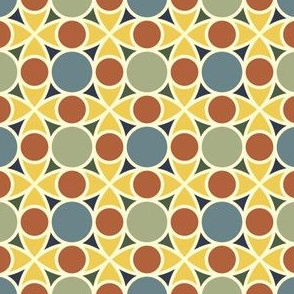 R4x2 circle mix : bayeux floor tile